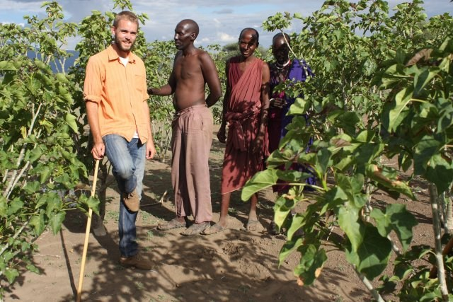 Lars Kåre Grimsby, PhD (Noragric) on field work in a collaboration project in Tanzania.