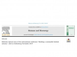 Special Issue in Biomass and Bioenergy