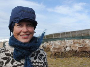 Kathrine Ivsett Johnsen conducting fieldwork in Finnmark