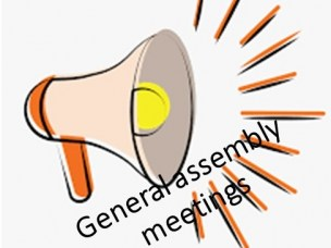 Information about General assembly meetings spring 2020