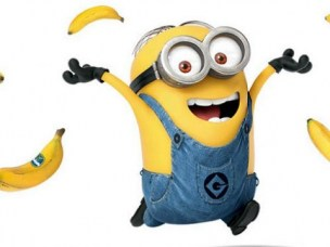 Minion with bananas