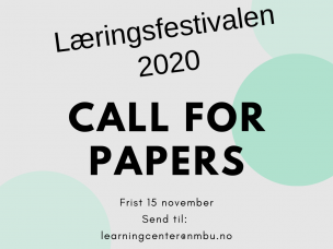 Læringsfestivalen 2020 - Call for papers!