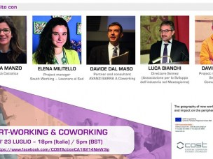 New webinar on Smart Working and Coworking on July 23rd 6.pm.