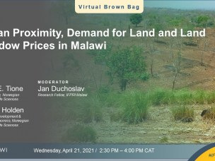 IFPRI EVENT RECAP: Urban proximity, demand for land and land shadow prices in Malawi