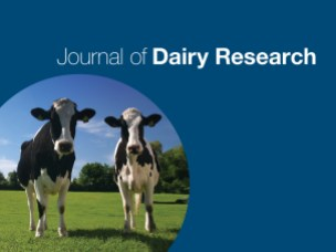 Journal of Dairy Research publication