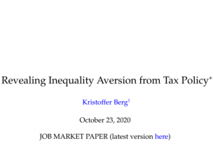 Zoom-seminar: Revealing Inequality Aversion from Tax Policy