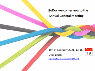 SoDoC welcomes you for Annual General Meeting