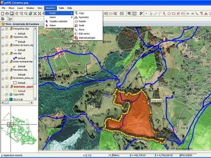 Editing a cartography layer with the gvSIG