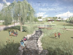 Open storm water management - Reopening of Hovinbekken and the facilitating of increased biodiversity in an urban environment