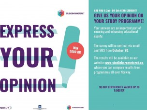 Give your opinion in Studiebarometeret 2020!