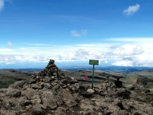 Wagagai, the highest peak of Mount Elgon, Uganda