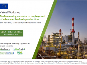 Co-Processing as route to deployment of advanced biofuels production [14 April 2021]