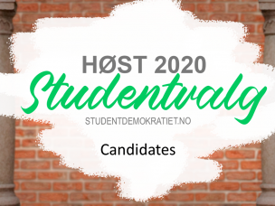 Candidates to the Student Election Autumn