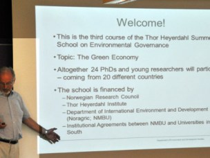 Thor Heyerdahl Summer School 2014: The Green Economy