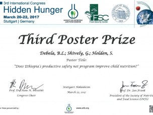 "Won Poster Prize at the 3rd International Congress ""Hidden Hunger"""