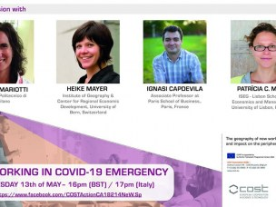 Webinar interviews on May 13, 2020. The effects of Covid-19 on new working spaces