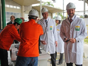 HRH Crown Prince Haakon of Norway gets to know three of our robotics projects