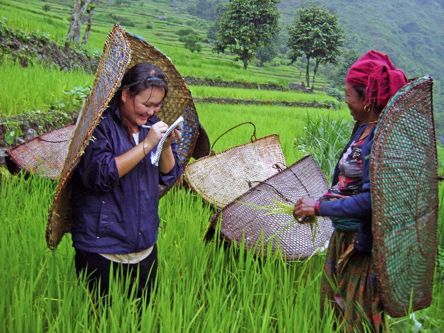 Master student conducting field research in Nepal (Masters in International Development Studies)