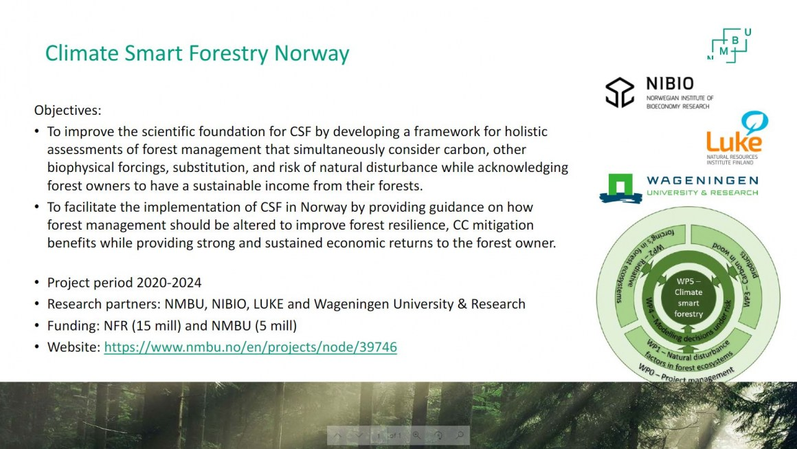 Climate Smart Forestry Norway