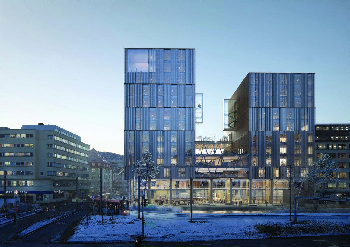 New Regional Parliament Building for Hordaland, in team Lab Entreprenør & co. Tin participated under NSW Arkitektur.