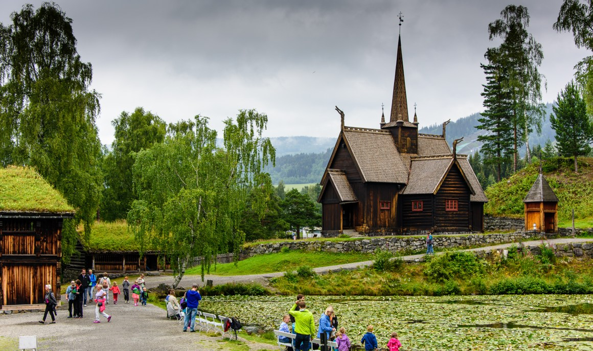 Maihaugen in Lillehammer is one of the largest open-air museums in Norway, with 200 buildings from different eras.