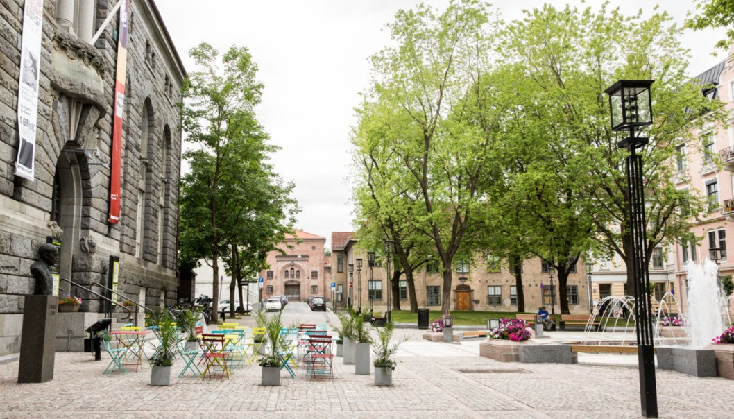 The traditional square Bankplassen in Oslo came out top among the examples used in the study.