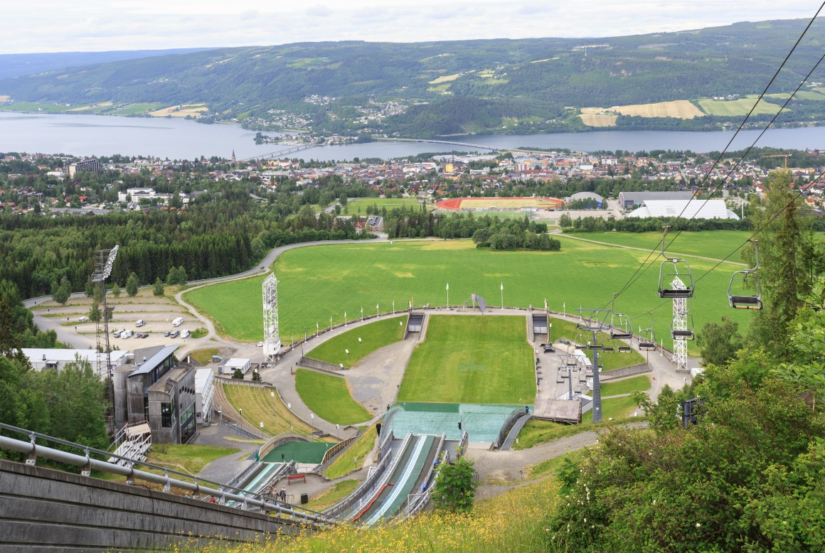Lysgårdbakkene Ski Jumping Arena was built for the Olympics at Lillehammer in 1994. It is still used frequently in both winter and summer time.