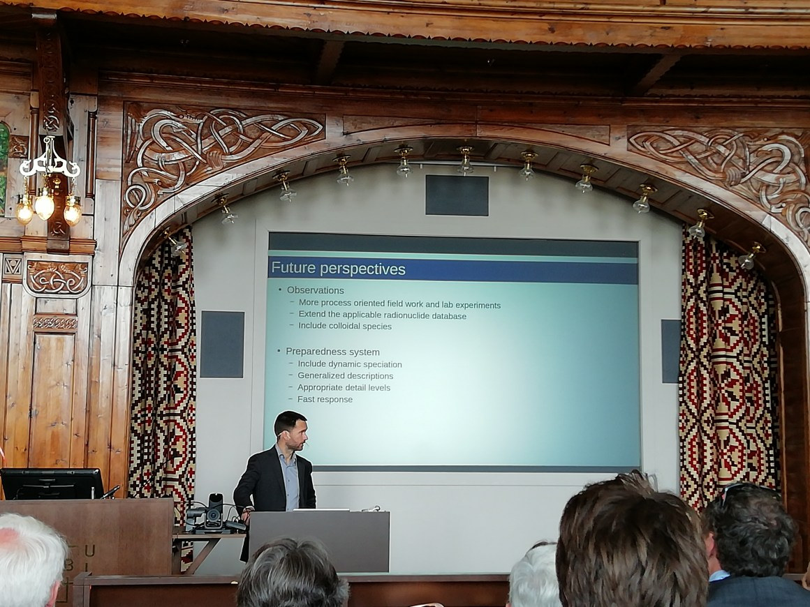 Magne Simonsen presenting future perspectives of his PhD research