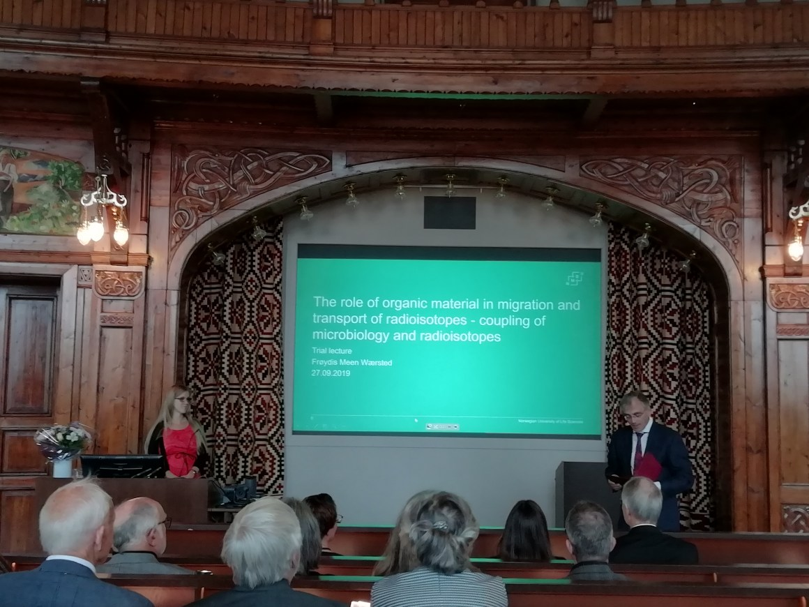 Frøydis Meen Wærsted defended her PhD thesis September 27th 2019