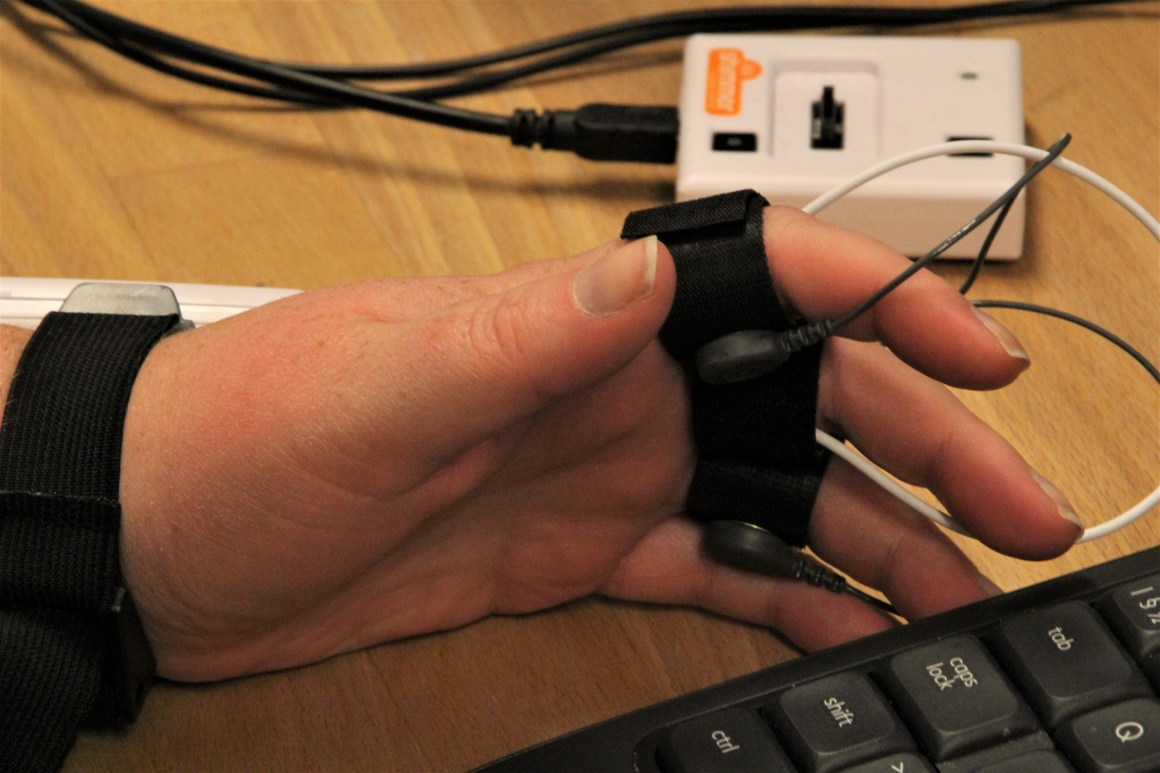 A lie detector is also used to measure pulse and sweat production – all in the name of science.