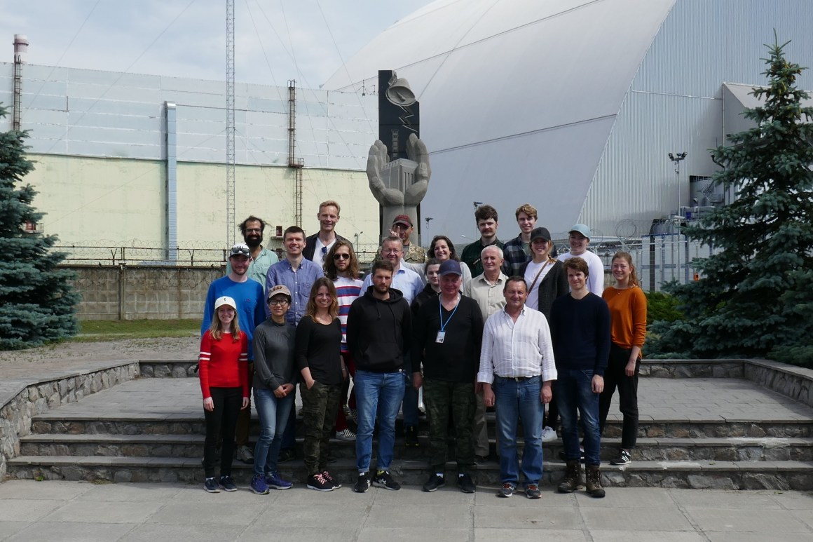 Participants of the seminar on the field trip to the Chernobyl Exclusion Zone