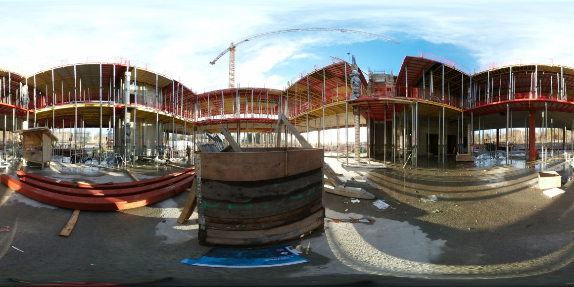360 Panorama for NMBU campus construction site