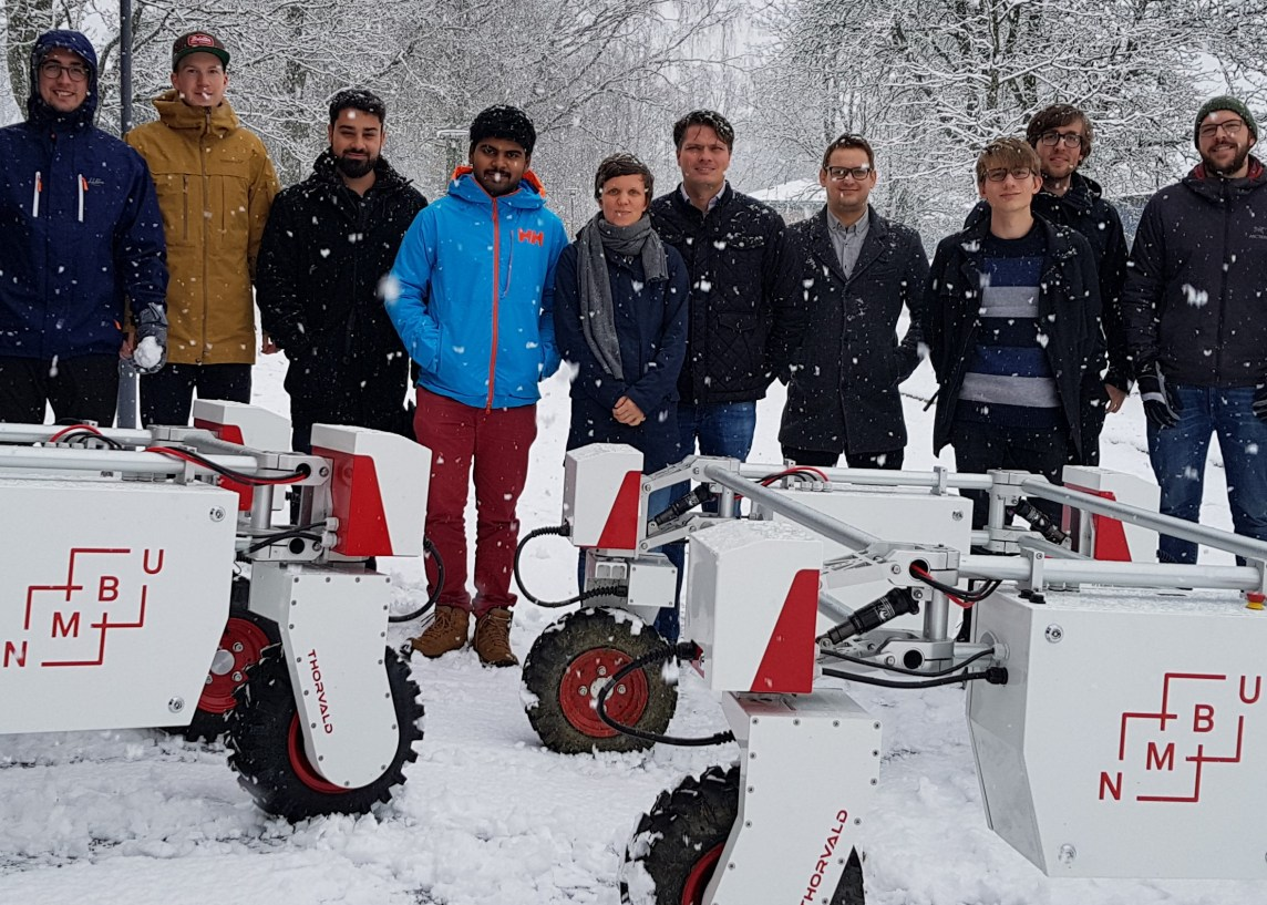 NMBU Robotics team, November 2018