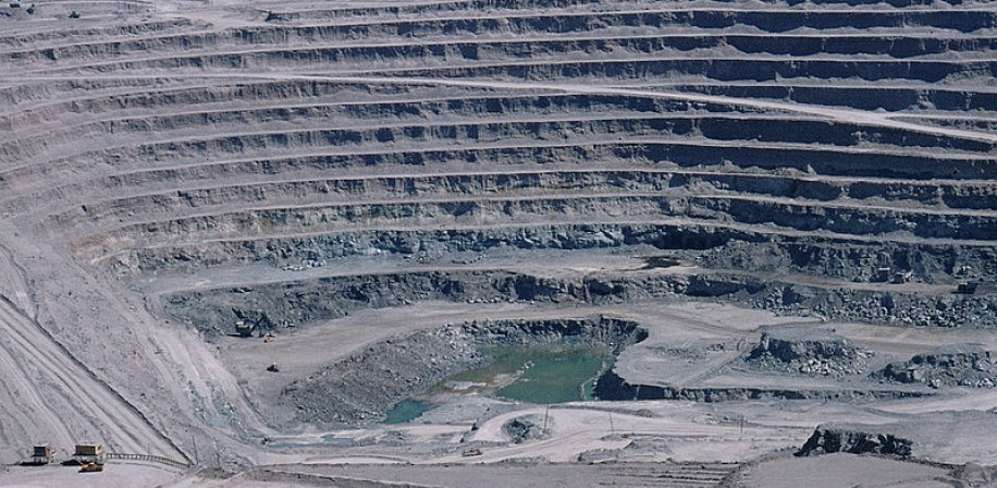 Panoramic view of Chuquicamata, a state-owned copper mine located in Calama, north of Chile.