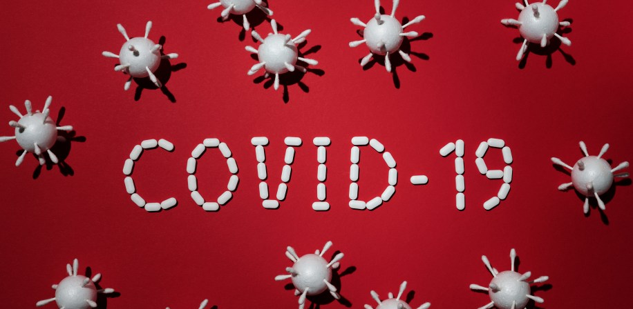 concept-of-covid-19-in-red-background-