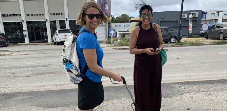 Circularity Protocol Assessment with Pindy and Lindsey in Oranjestad.