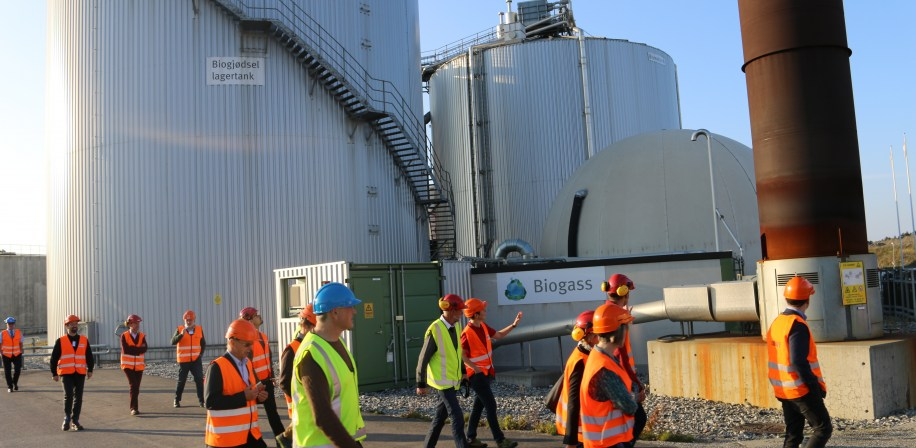 Bio4Fuels conference particpants visit EGE Waste-to-Energy Agency's Biogass Plant.