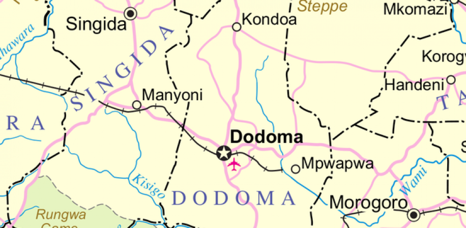 UN Map of the Kondoa District, Tanzania