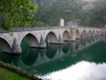 Bridge Dina River - na Drini Cuprija (Symbolic historical border between West& East)