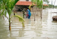 Drinking water is a premium commodity during high tides