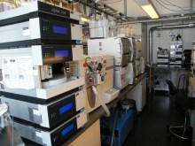 Analytical equipment. HPLCs and mass spectrometers.