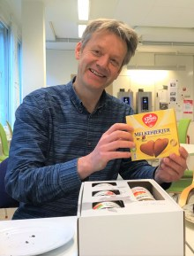 Norwegian chocolate and apple jam are helping Arjen Wals feel at home in Norway.