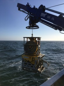 """ROV ÆGIR6000 that was used to take samples from the sunken submarine """"Komsomolets"""""""