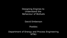 Bio4Fuels Short Film David Emberson