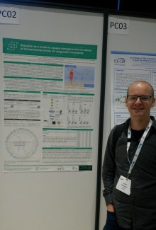 """Jorke Kamstra with his poster """"Zebrafish as a model to assess transgenerational effects of environmental stress via epigenetic inheritance"""""""