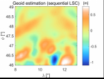 Geoid estimation from sequential collocation